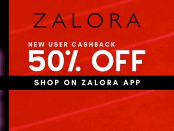 New Customer Special - Enjoy 50% Cashback on all app-purchases with this Zalora promo code
