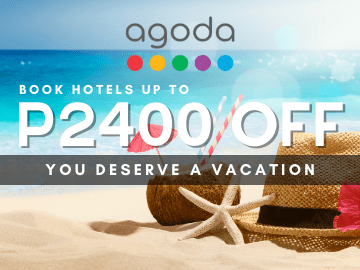 Up to P2,400 on hotel bookings around Philippines with this Agoda coupon code